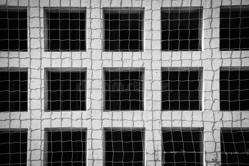 Abstract grid. Abstract black and white photo of a concrete grid stock images