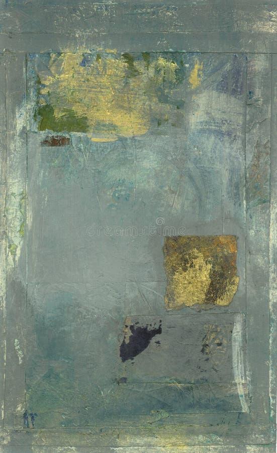 Abstract Grijs met Goud royalty-vrije illustratie