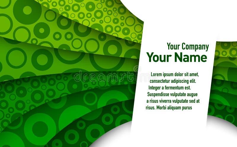 Abstract groen adreskaartje royalty-vrije illustratie