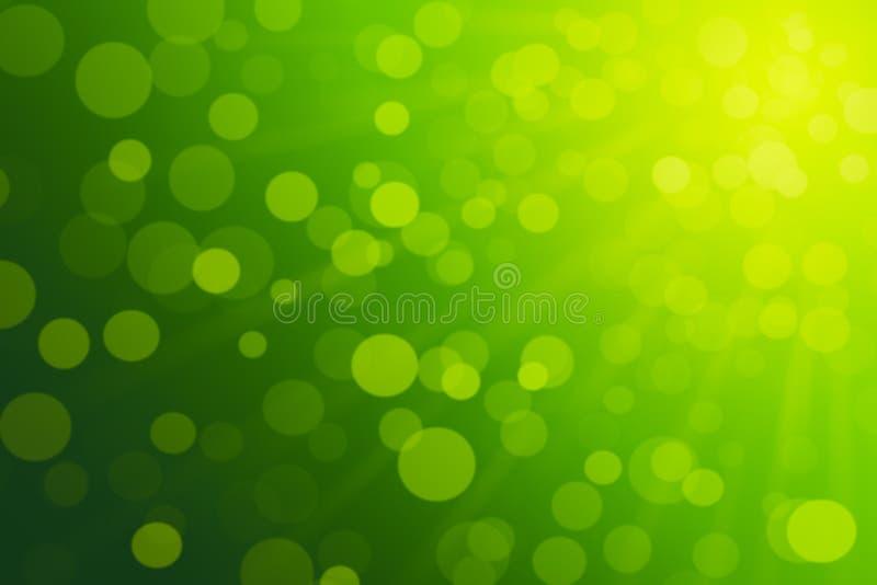 Abstract groen bokehlicht stock afbeelding