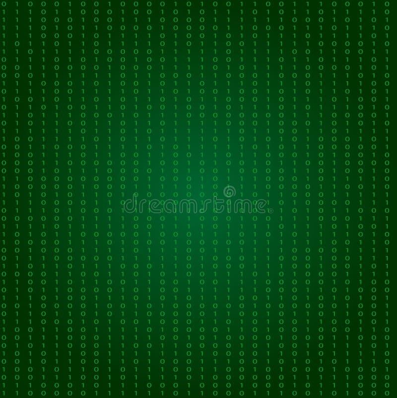 Abstract groen matrijsachtergrond of patroon - vectorillustratie stock illustratie
