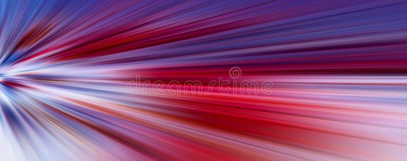 Abstract grote gegevens, kleurrijke vezels, snelle stralen tunnelachtergrond, banner 3D-illustratie stock illustratie