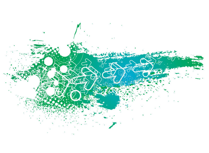 Abstract grunge arrow backgroung royalty free illustration
