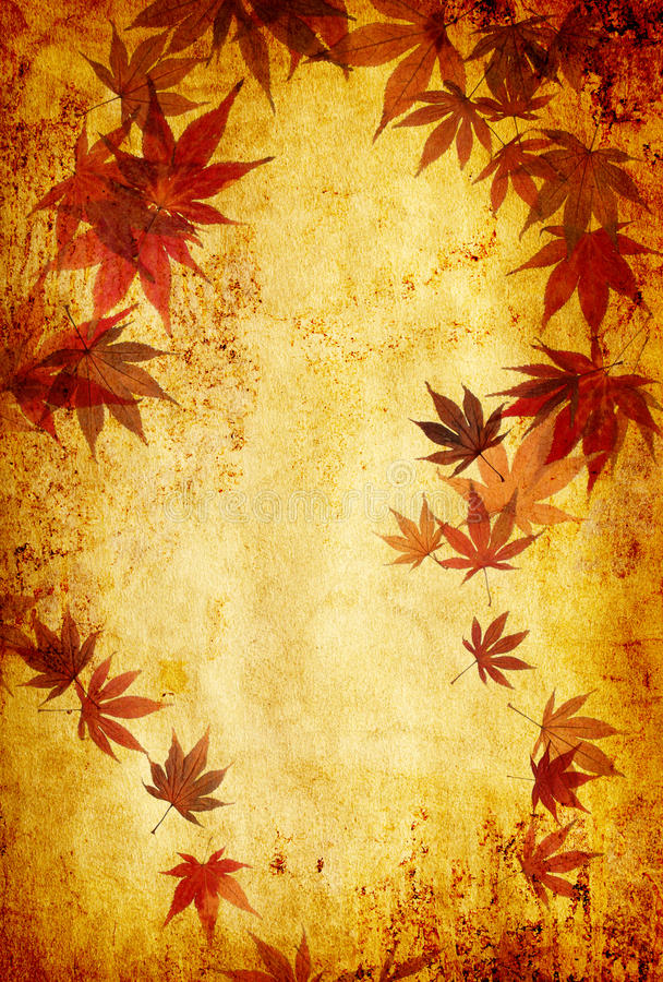 Download Abstract Grunge Autumn Background With Leaves Stock Illustration - Illustration of branches, forrest: 16276980