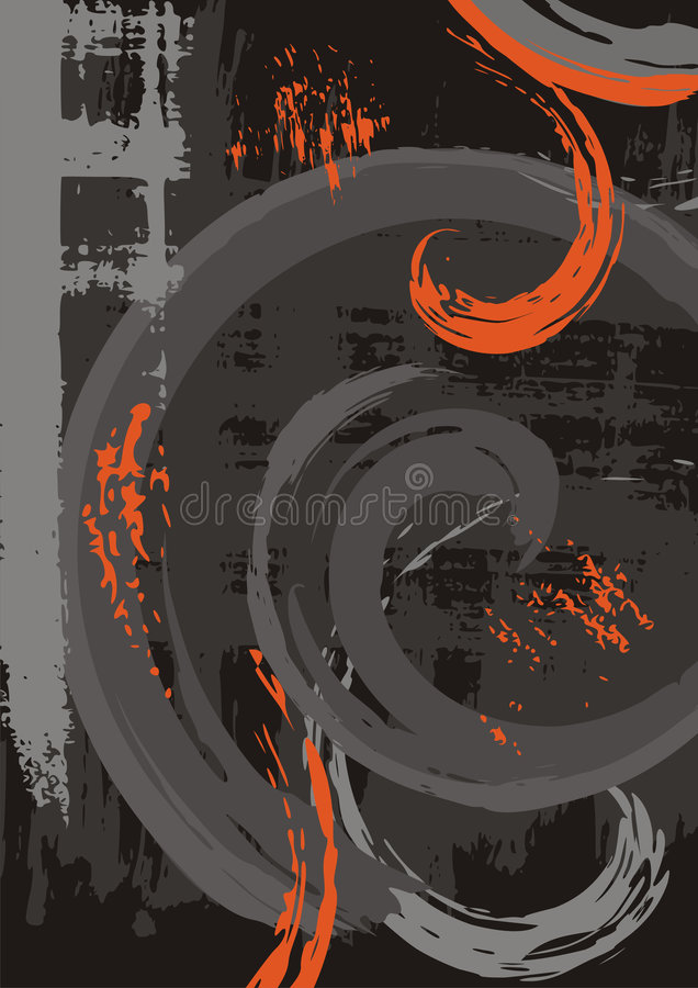 Abstract grunge background. With scroll elements