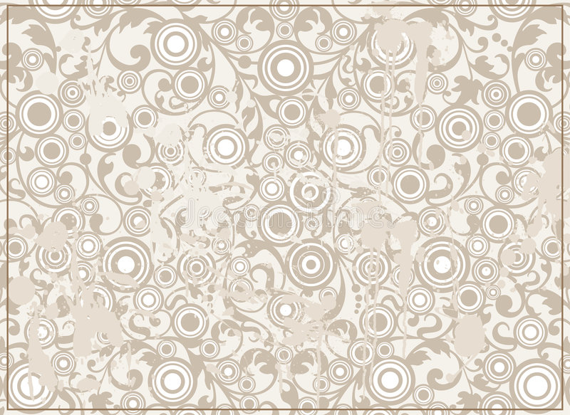 Download Abstract Grunge Background With Filigree Ornament Stock Vector - Image: 8024384