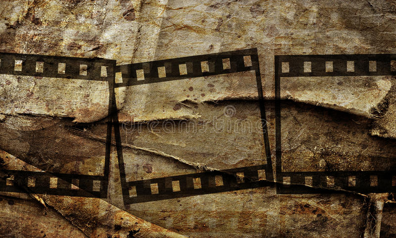 abstract grunge background with film stripe stock illustration