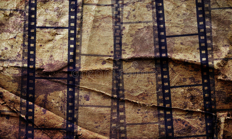 abstract grunge background with film stripe stock images