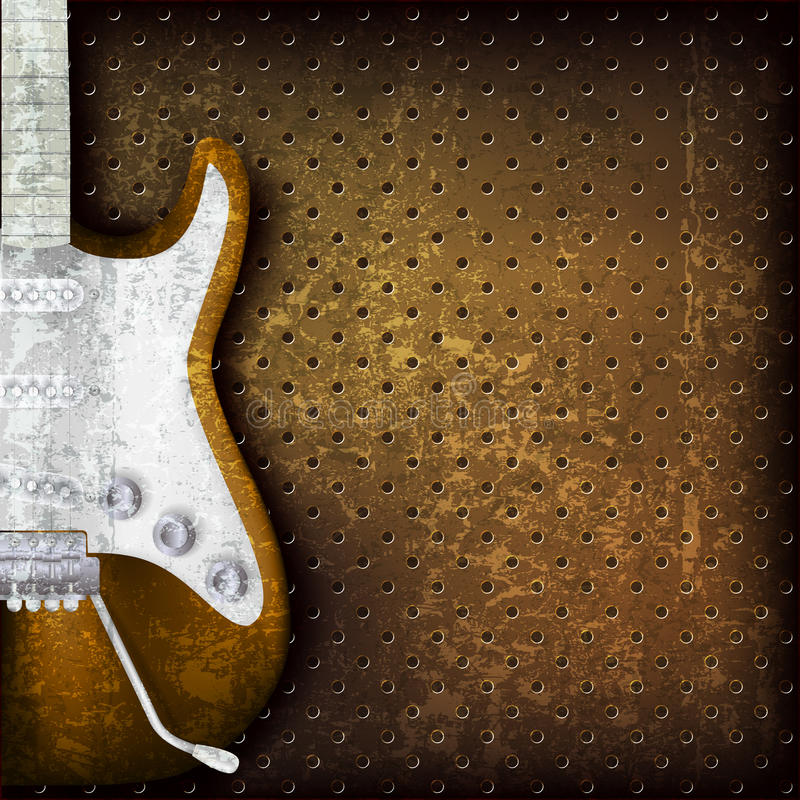 Free Abstract Grunge Background With Electric Guitar Royalty Free Stock Photography - 25832597
