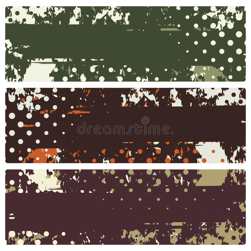 Free Abstract Grunge Banners Stock Photo - 26727010