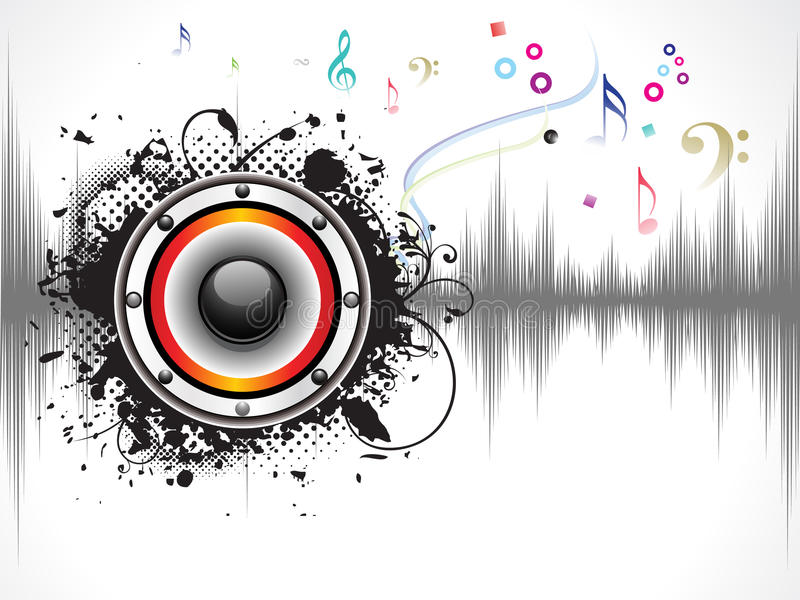 Abstract grunge based sound background vector illustration