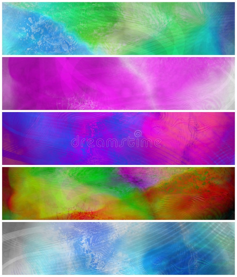 Download Abstract Grunge Colorful Banners Stock Illustration - Image: 9036513