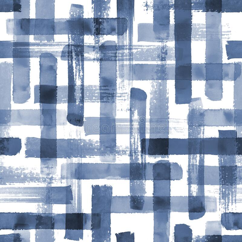 Free Abstract Grunge Cross Geometric Shapes Contemporary Art Blue Indogo Color Seamless Pattern Background Royalty Free Stock Photo - 184992225