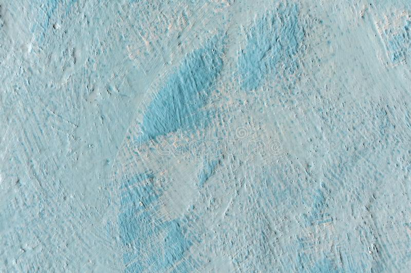 Abstract grunge decorative light blue plaster wall background stock photos