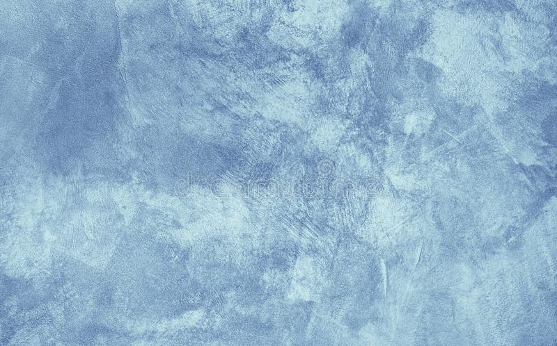 Abstract Grunge Decorative Light Blue Stucco Texture royalty free stock photography