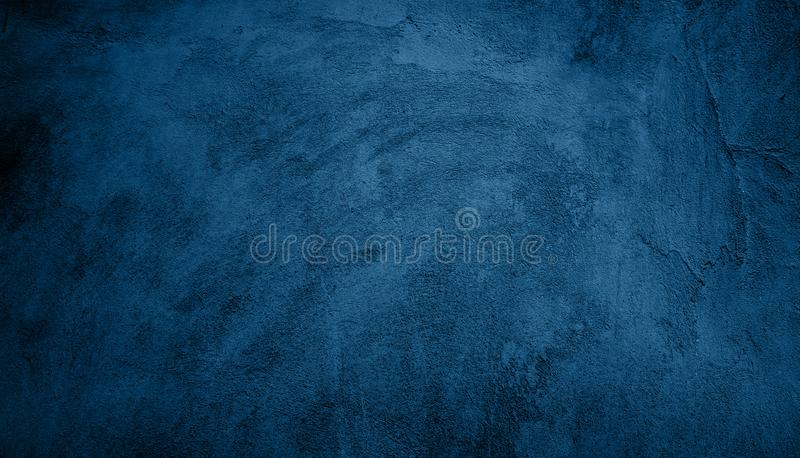 Abstract Grunge Decorative Navy Blue Dark Background stock photography