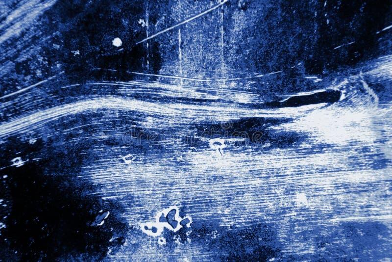Abstract Grunge Decorative Navy Blue Dark paint brush strokes background stock photos