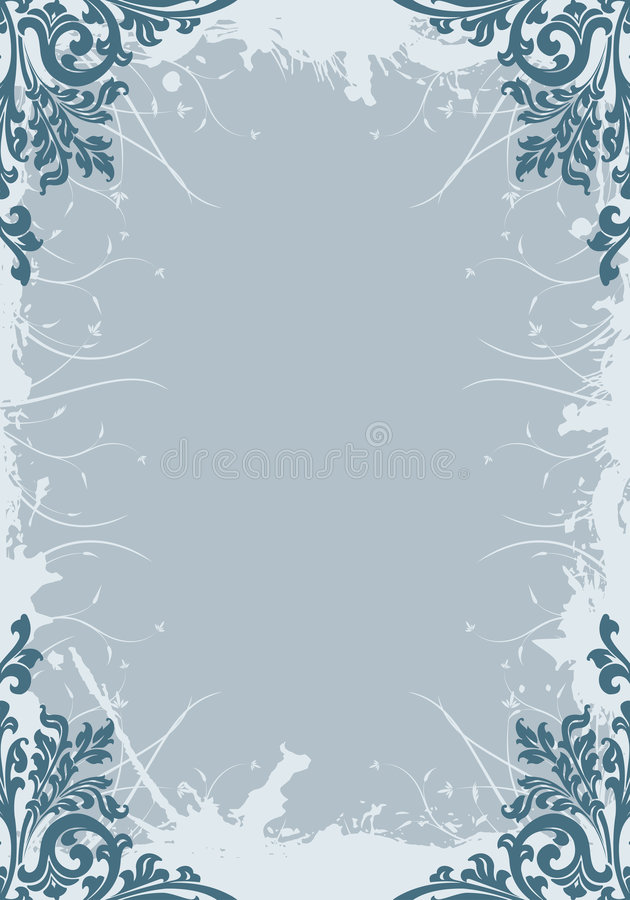 Abstract grunge floral decorative background vector illustration vector illustration