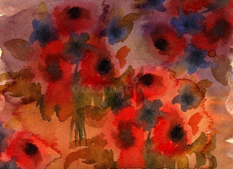 Abstract grunge flower background vector illustration