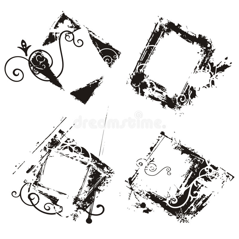 Free Abstract Grunge Frames Royalty Free Stock Photography - 2161347