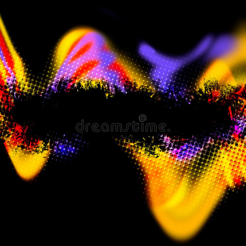 Abstract Grunge Layout royalty free illustration