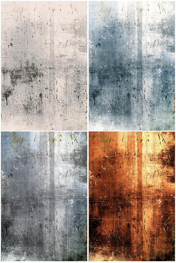 Abstract grunge metal backgrounds vector illustration