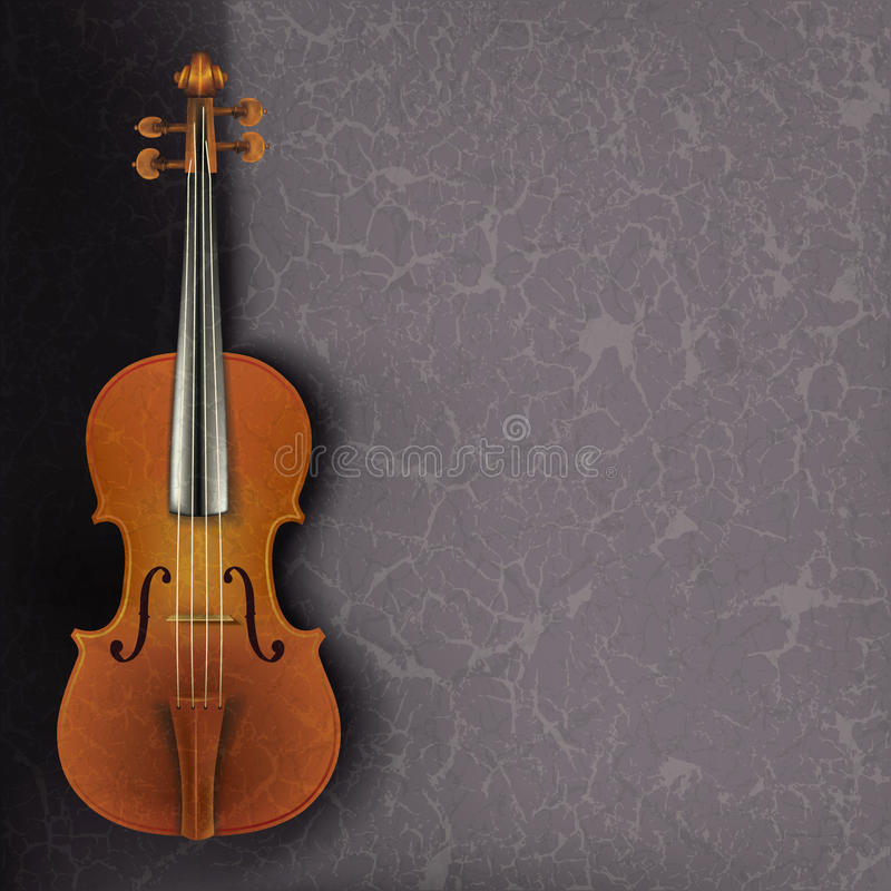 Download Abstract Grunge Music Background With Violin Stock Vector - Image: 19842202
