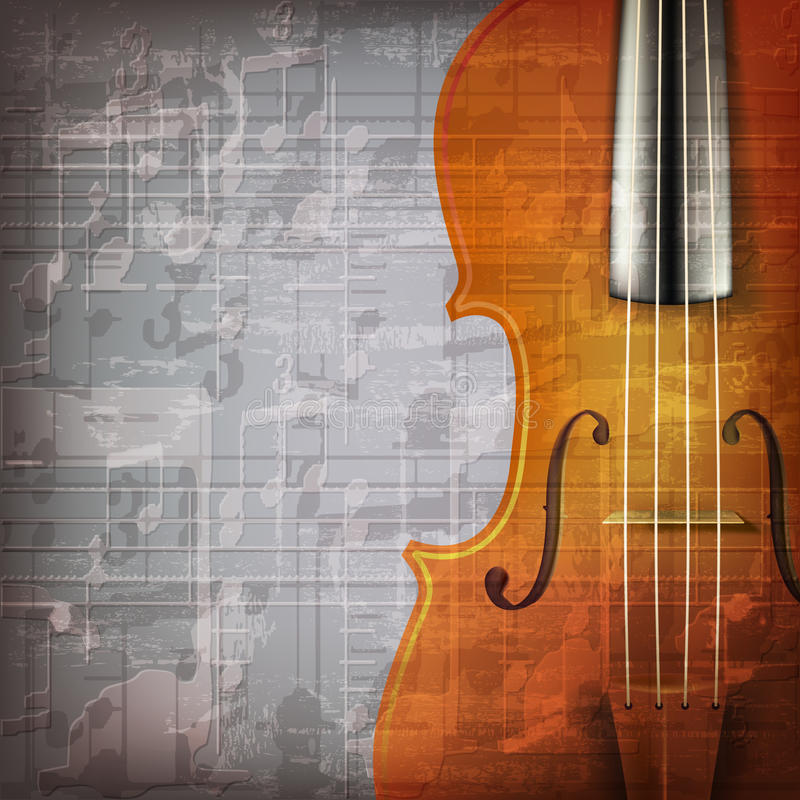 Free Abstract Grunge Music Background With Violin Stock Photos - 51775333