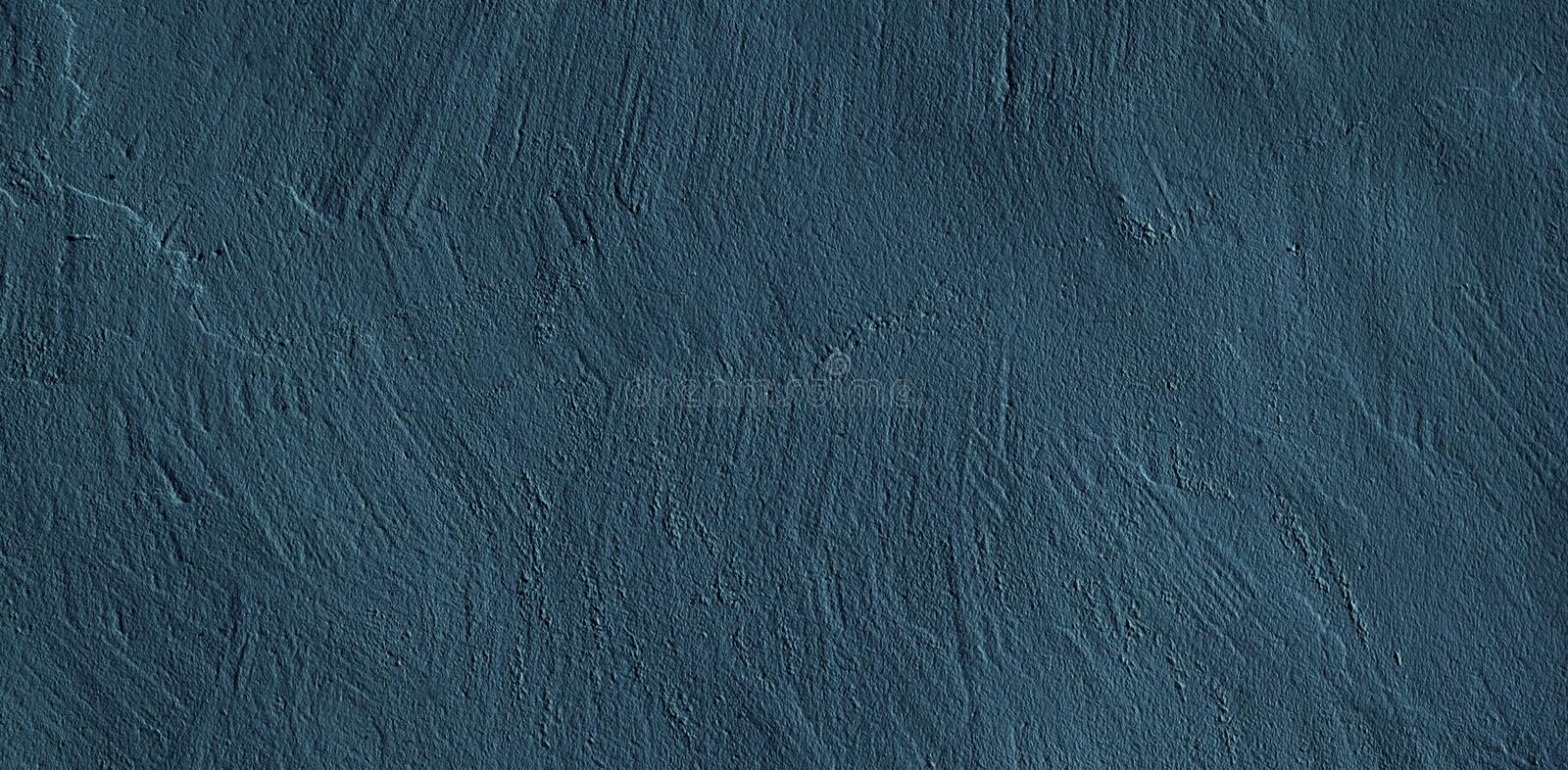 Abstract Grunge Navy Blue Dark Stucco Background royalty free stock image