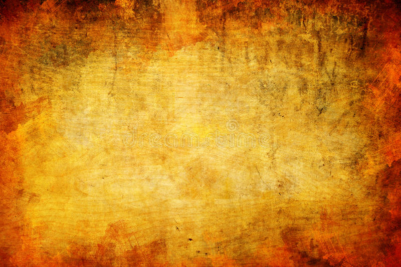 Abstract grunge orange wooden background stock photo