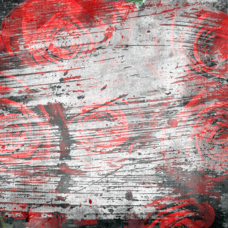 Download Abstract Grunge Textured Background With Roses Stock Illustration - Illustration of textured, gray: 24243919