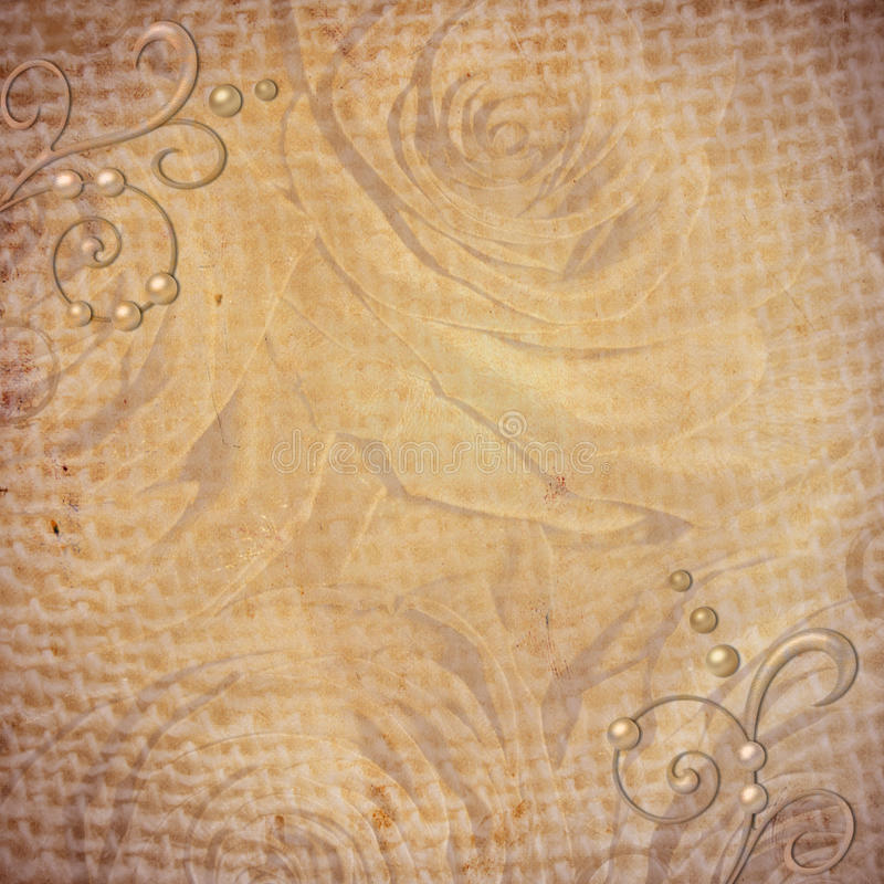 Free Abstract Grunge Textured Background With Roses Royalty Free Stock Images - 24420179