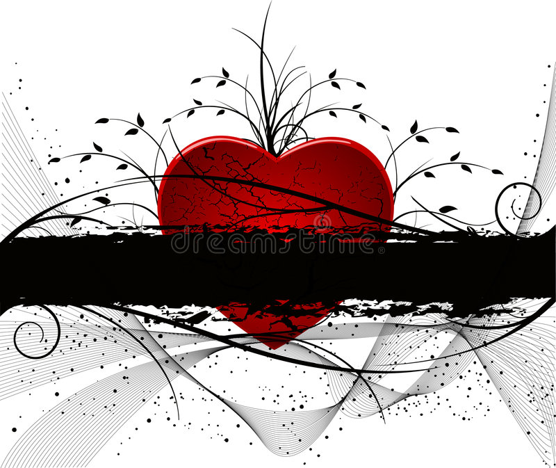 Abstract Grunge Valentines Design Royalty Free Stock Image