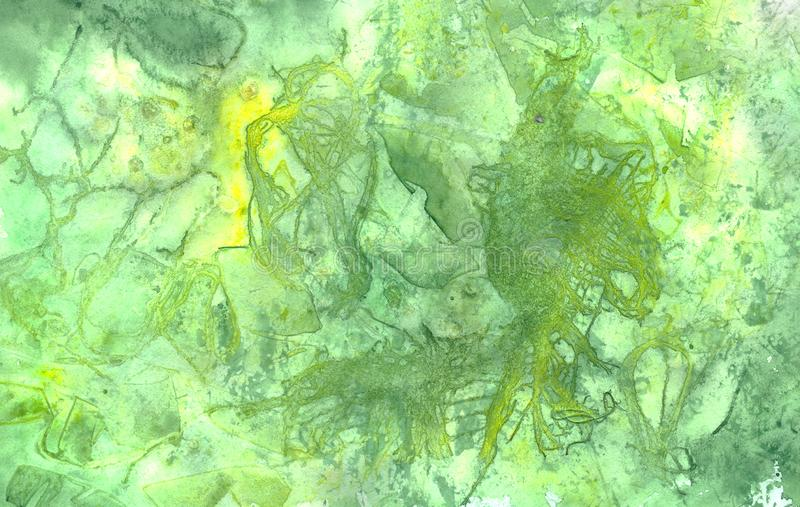 Abstract grunge watercolor background green and light green colors royalty free illustration