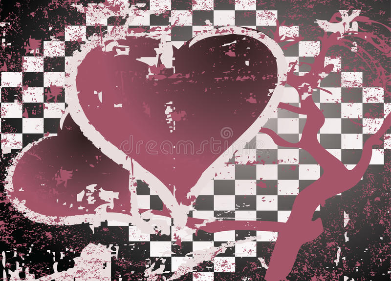 Download Abstract Grungy Background Heart Illustration Stock Vector - Image: 9989407