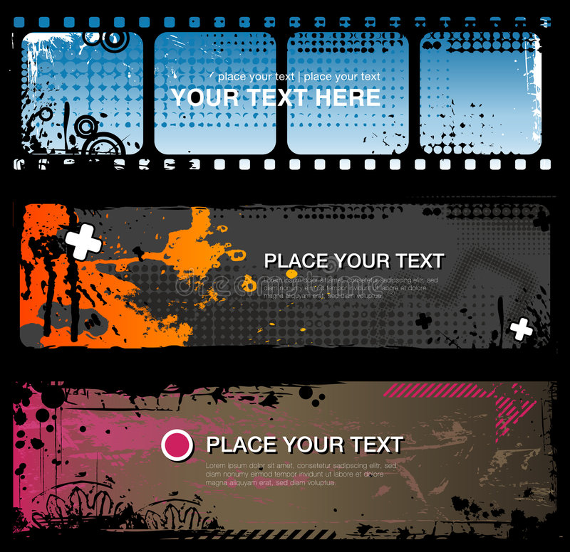 Download Abstract grungy banners stock vector. Image of cool, clubbing - 8496581