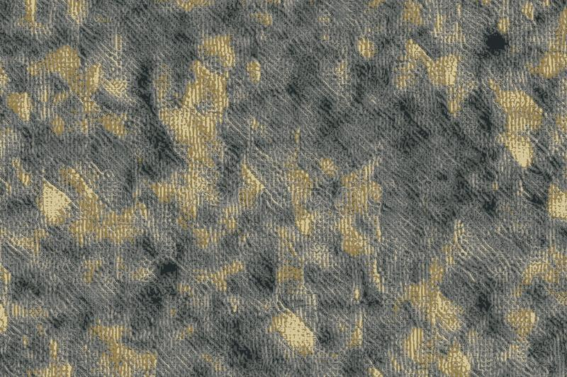Abstract grungy gold and grey texture with rough surface royalty free illustration
