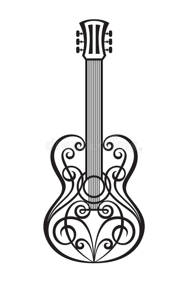 Download Abstract guitar stock vector. Illustration of decorative - 28958183