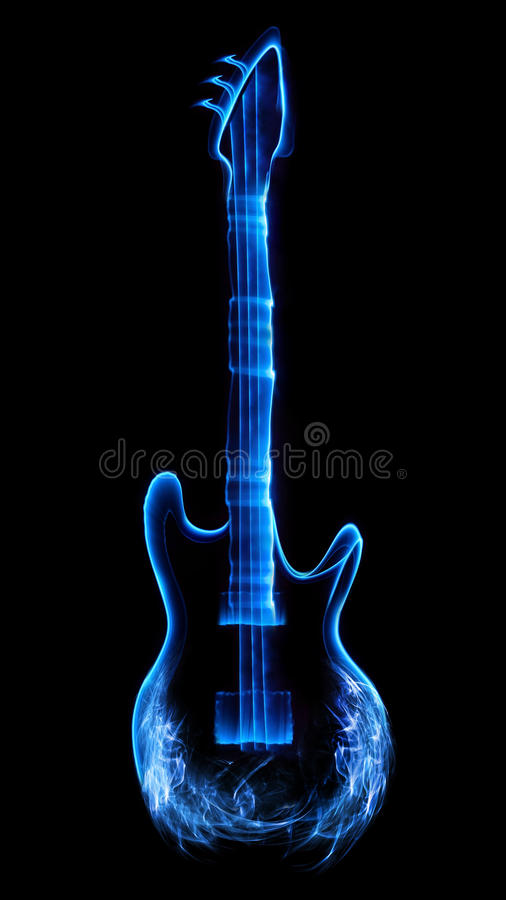 Abstract guitar stock illustration