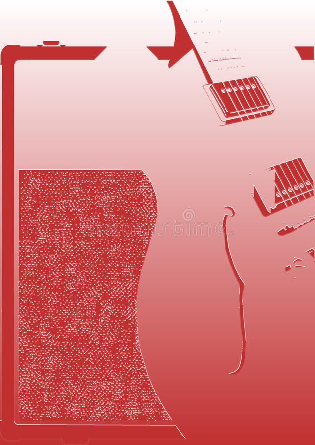 Abstract Guitar And Amplifier stock illustration