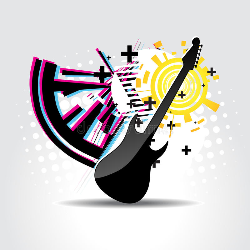 Download Abstract guitar art stock vector. Image of play, song - 14048464