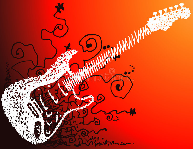 Abstract guitar background stock illustration
