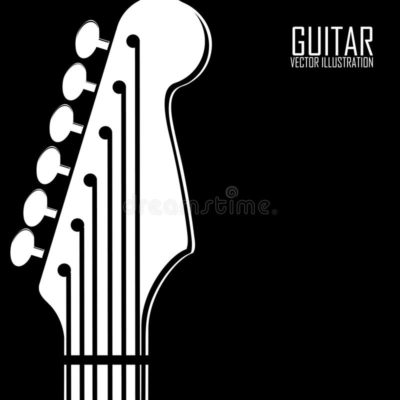 Download Abstract guitar stock vector. Image of sign, white, listening - 32166241