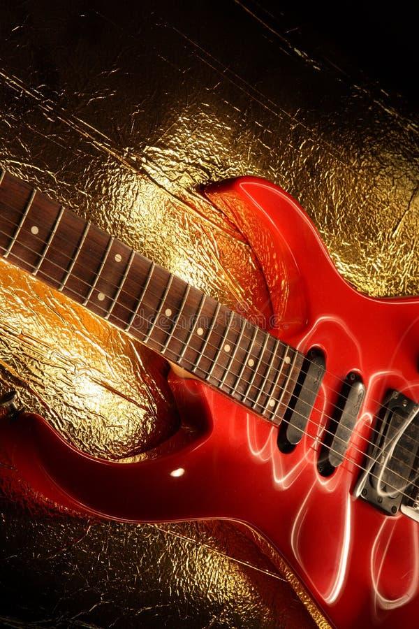 Abstract guitar music theme stock photos