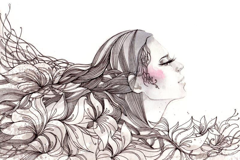 Abstract haar royalty-vrije illustratie