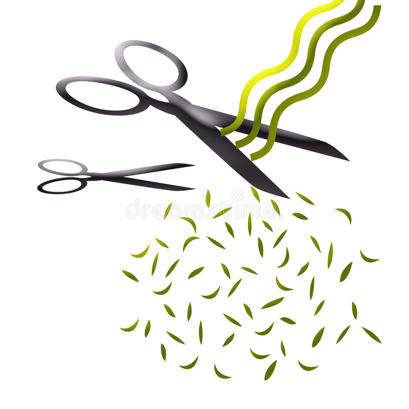 Abstract haircut. Scissors and haircut abstract art royalty free illustration