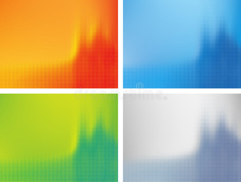Abstract halftone background stock illustration