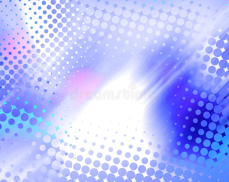 Abstract halftone blue background