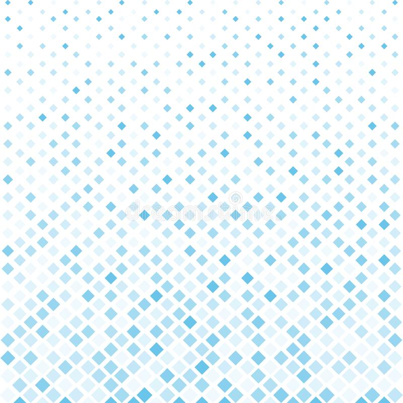 Abstract halftone blue square pattern background, Vector modern. Futuristic texture for posters, sites, cover, business cards, postcards, interior design stock illustration