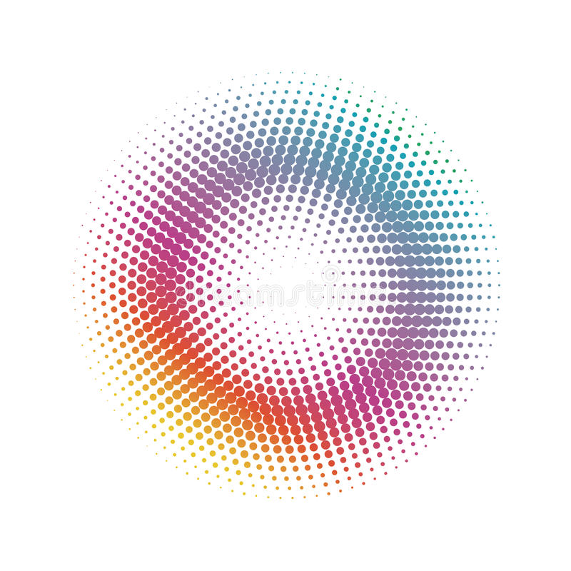 Abstract halftone Circle dots pattern background stock illustration